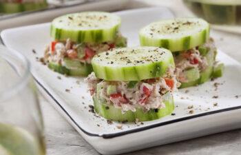 Tuna on cucumber