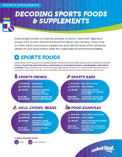 Decoding Sports Foods & Supplements