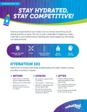 Stay Hydrated, Stay Competitive